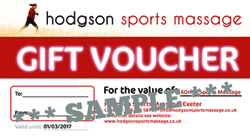 Massage Gift Voucher Exeter